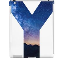 The Letter Y - night sky iPad Case/Skin