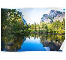 Reflections Near El Capitan Poster