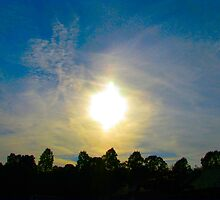 Double Sundog At Sunset by Ginny York