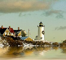Nobska Light by Michael  Petrizzo