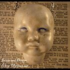 Crackled Large Doll Head Necklace by uglyshyla