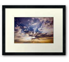 Sunrays at dawn Framed Print