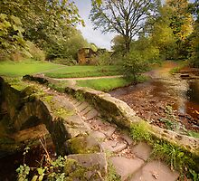 Sallys Bridge - Wycoller Village - Pendle - Lancashire by eddiej