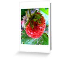Yummy Strawberry Greeting Card