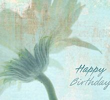 Shy Blue Birthday Card by DiEtte Henderson