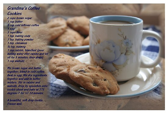 Grandma's Coffee Cookies (recipe) w/ white border by Stephen Thomas