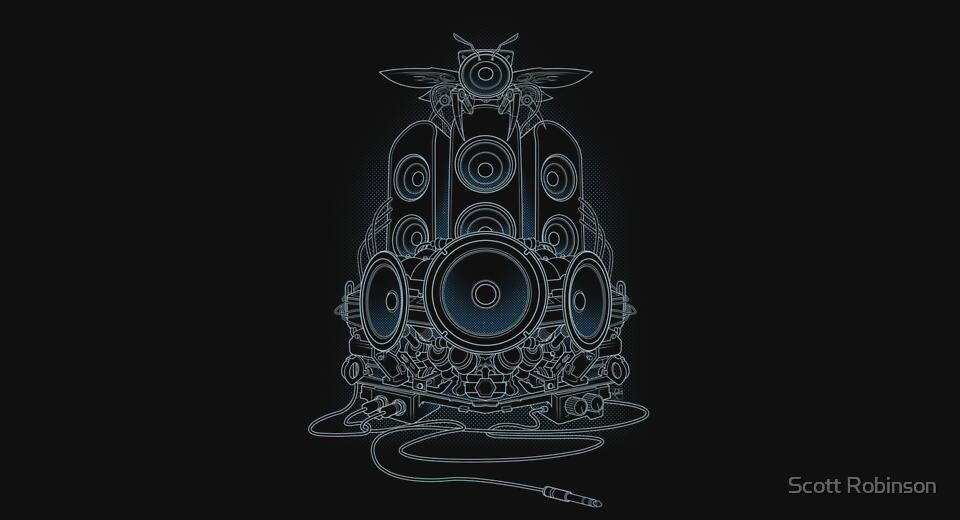 Music T-Shirts: Buy Audiohive Electric by Scott Robinson