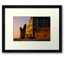 Dusk at the Mont Saint Michel  Framed Print