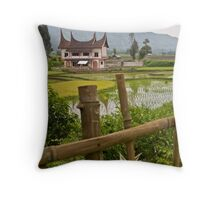 Minangkabau house Throw Pillow