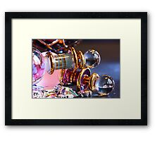 Perfume and gems Framed Print