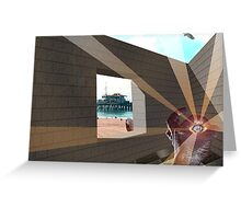 TILTED VIEW Greeting Card