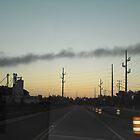 Sunrise Over Firetower by Jwood
