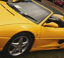 Yellow Ferrari by Robert Munden