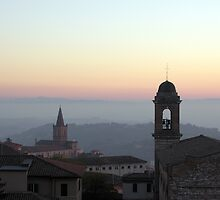 Santa Giuliana & San Spirito against the evening colours, Centro Storico, Perugia, Italy by Philip Mitchell