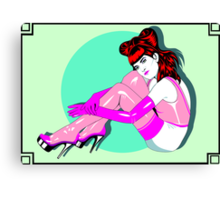 Pink Rubber Stockings Canvas Print