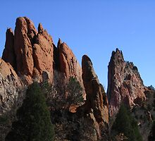 South Gateway Rock, Sentinal Rock, and Gray Rock, Garden of the Gods, Colorado Springs, CO 2009 by J.D. Grubb