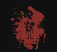 2-headed skeleton kid in red by WhiteFlagDesign