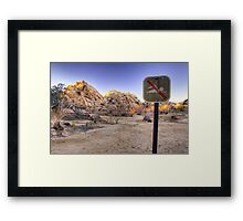 No Swimming in the Desert Framed Print