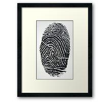 Fingerprint Framed Print