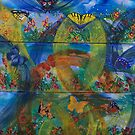 Whimsical Nature - Triptych by Ciska