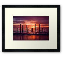 Port Willunga Jetty Framed Print