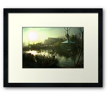 Light Through Mist Framed Print