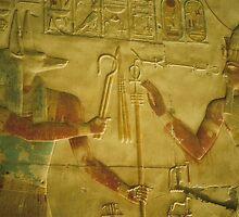 Ramessess II Abu Simbel wall relief by ishtarsands