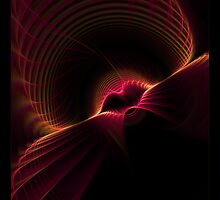 """Kiss""  - Fractal Art by Leah McNeir"