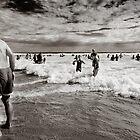 """Woolamai Bathers"" by James  Archibald"
