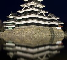 Matsumoto Castle, by night by Skye Hohmann