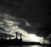 Power Station Monochrome by Paul Davey