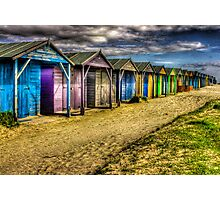 West Wittering -All along the Beach Huts  Photographic Print