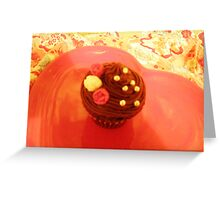romantic cup cake Greeting Card