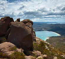 Coles Bay, seen from Mount Amos, Freycinet National Park, Tasmania by Roger Barnes