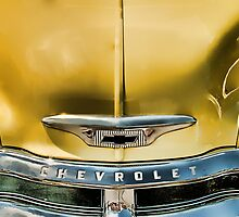 Yellow Chevy & Grill by Robert Beck