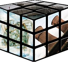 Sheffield Landmark Rubiks Cube by Nathan Walker