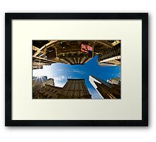 New York, Fisheye and Airbus A380 Framed Print