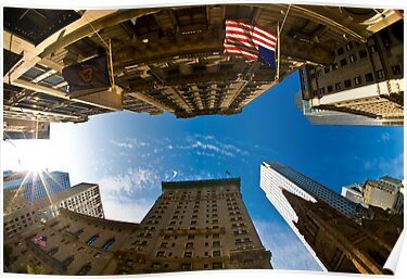 New York, Fisheye and Airbus A380 by Dominic Kamp