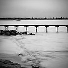 Dusk at Beachport jetty in monochrome by Elana Bailey
