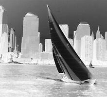 Sailing by New York (inverted) by jpuent09