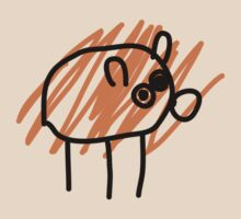 My imaginary pet pig that is actually a dog by DerelictDoug
