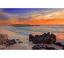 Trigg Beach At Sunset  Photographic Print