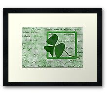 Irish Heritage Framed Print