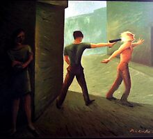 The shot in the nape     El tiro en la nuca  by Manuel L. Acosta