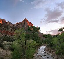 Zion Alpenglow  by Stephen Vecchiotti