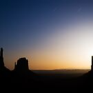 Monument Valley Moonrise by Nolan Nitschke