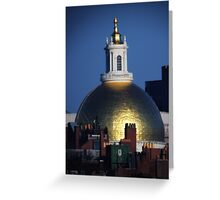 Massachusetts State House Gold Dome Greeting Card