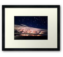 The Raging Stillness - Startrails Version Framed Print