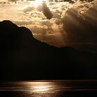 Sunset on the Swiss Alps by swight
