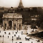 Paris from the Louvre by swight